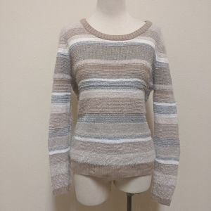 3for$20 striped sweater large glitter